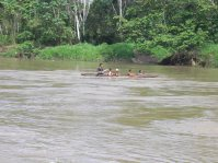 River transport adjacent to Finca